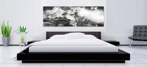 Murrays Beach canvas in a bedroom
